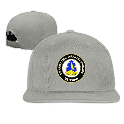US Army 157th Infantry Brigade Unit Crest Veteran Unisex Adult Hats Classic Baseball Caps Sports Hat Peaked Cap Gray
