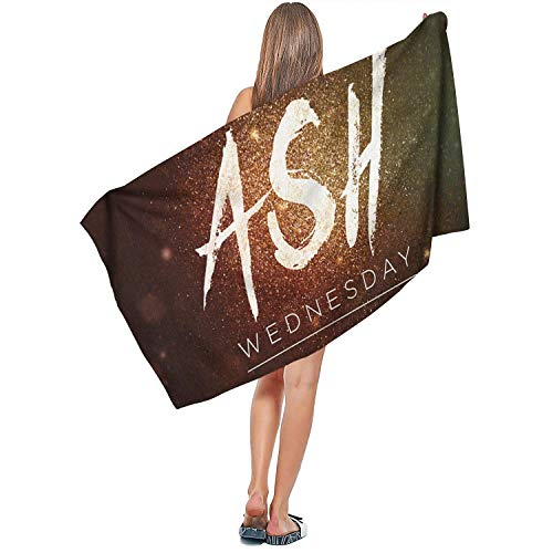 AIKYAN Ladies Beach Towels 27.5 x 55 Inch Highly Absorbent Beautiful Ash Wednesday Creative Poster