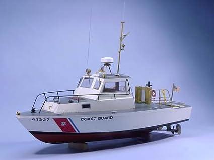 US Coast Guard Utility Boat Wooden Boat Kit by Dumas