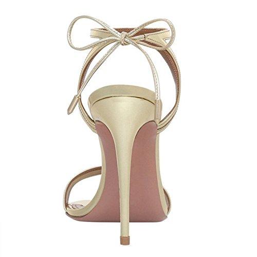 Slingback Gladiateur De TAOFFEN Lacets Ete Cheville abricot Appartement Femme Franges Sandales Sangle U5UwXq0