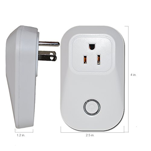 UL Listed WIFI Smart Plug, Wireless APP Remote Speaker Control Appliances Compatible with Alexa Smart Outlet for Smart Home Lights/ Fixtures/Other by WGOAL (Image #7)