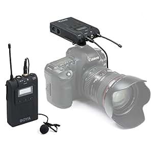 uhuru boya uhf professional omni directional lavalier wireless microphone recorder. Black Bedroom Furniture Sets. Home Design Ideas