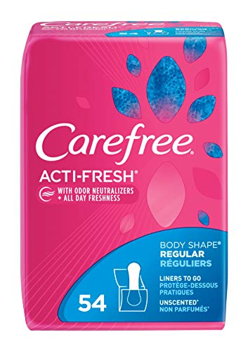 Care Free Acti-Fresh Body Shaped Regular Pantiliners, Scented, 54 Count