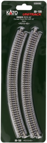 Kato USA Model Train Products Unitrack, 315mm (12 3/8