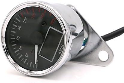 Retro Motorrad Tacho LCD Digital Tachometer Kilometerzähler Kraftstoffanzeige
