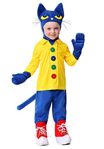 Toddler's Pete The Cat Costume 2T Blue, Yellow -
