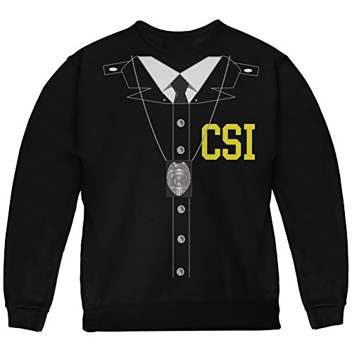 Halloween Crime Scene Investigator Costume Black Youth Sweatshirt - Youth -