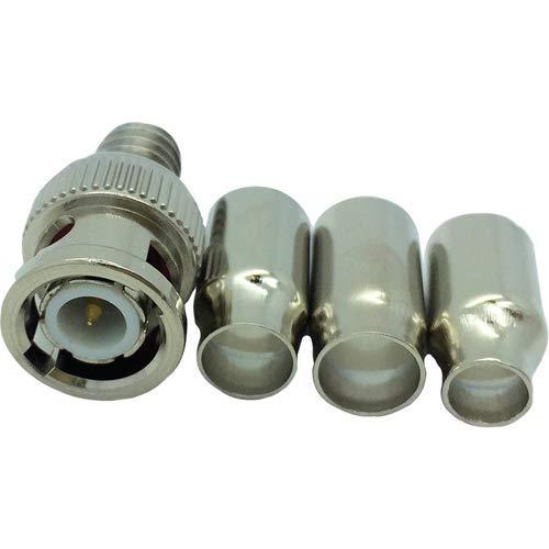W BOX 0E-BNCCRI75C 100 Pack of BNC Crimp CONNECTORS - • 75 Ohm • BNC Plug Crimp • Gold Plated CONNECTORS • RG58 PVC, RG59, 6 PVC & Plenum for 18-22 AWG