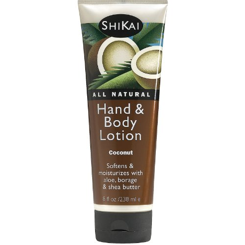 and Body Lotion, 8 Ounce - 6 per case. (Shikai Coconut)