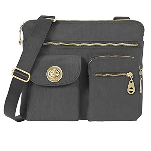 Baggallini Sydney Crossbody Purse for Women - Highly Functional and Organizational Design - Lightweight and Durable for Travel or Everyday Use - Great Shoulder Bag - Perfect for Any Outfit (Charcoal)