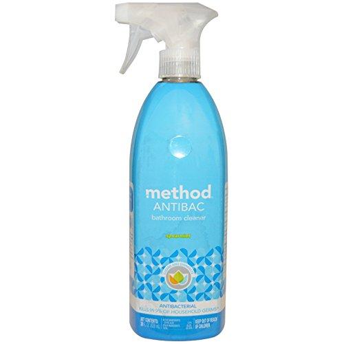 Method, Antibac, Bathroom Cleaner, Spearmint, 28 fl oz (828 ml) - 2pc