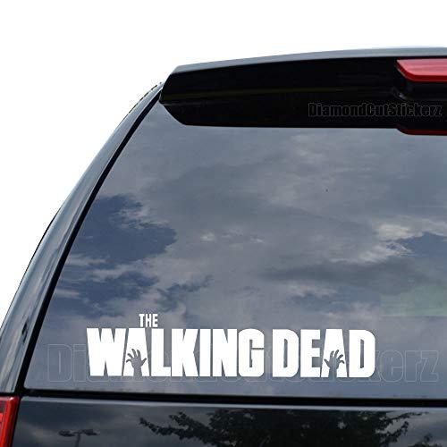 DiamondCutStickerz Walking Dead Zombies Decal Sticker Car Truck Motorcycle Window Ipad Laptop Wall Decor - Size (05 inch / 13 cm Wide) - Color (Matte White)