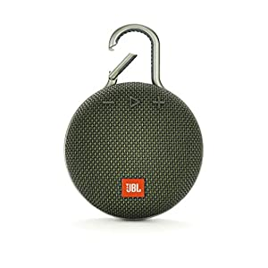 JBL Clip 3 by Harman Ultra-Portable Wireless Bluetooth Speaker with Mic (Green)
