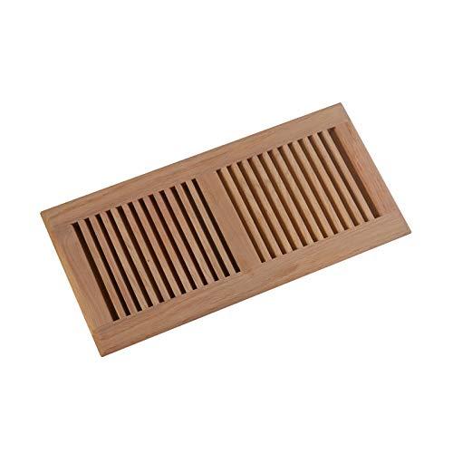 WELLAND 6 Inch x 14 Inch Red Oak Hardwood Vent Floor Register Self Rimming Unfinished