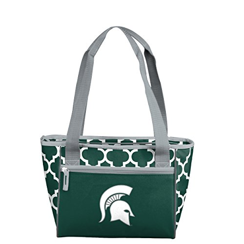 State Tote Michigan (Logo Brands NCAA Michigan State Spartans 16 Cooler Tote, One Size, Hunter)