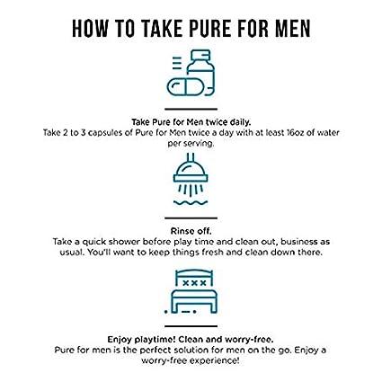 Pure for Men - El suplemento original de fibra de limpieza vegana, sin cápsula (en polvo) - Fórmula patentada comprobada: Amazon.es: Salud y cuidado ...