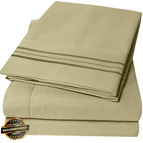 Gatton New Premium 1800 Thread Count Microfiber Bedroom Solid Color Bed Sheet Set | LINENIENHM-182012289 Full