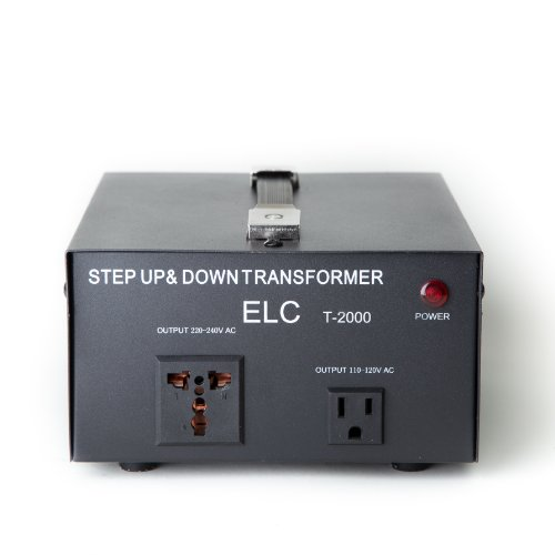 Wiring 20a Breaker - ELC T-2000 2000-Watt Voltage Converter Transformer - Step Up/Down - 110V/220V - Circuit Breaker Protection
