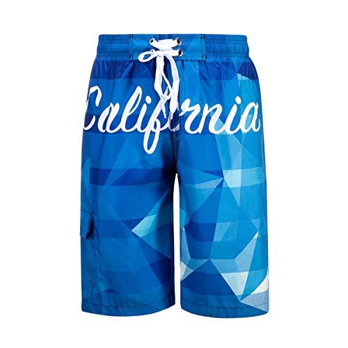 0ce281b64f DRSLPAR Mens Quick Dry Swim Trunks Drawstring Beach Board Shorts with Mesh  Lining