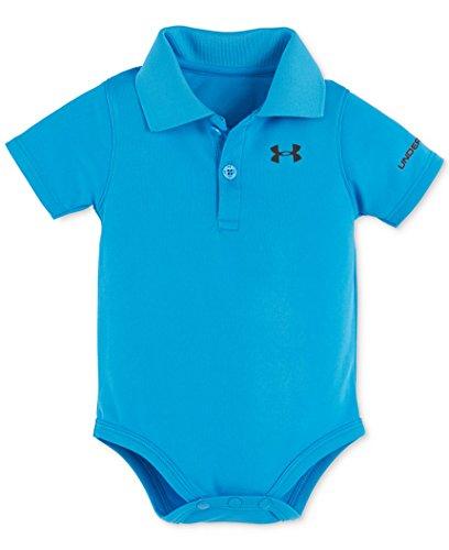 Under Armour Baby-Boys' Polo Bodysuit,Meridian Blue,3-6 (Meridian Polo Shirt)