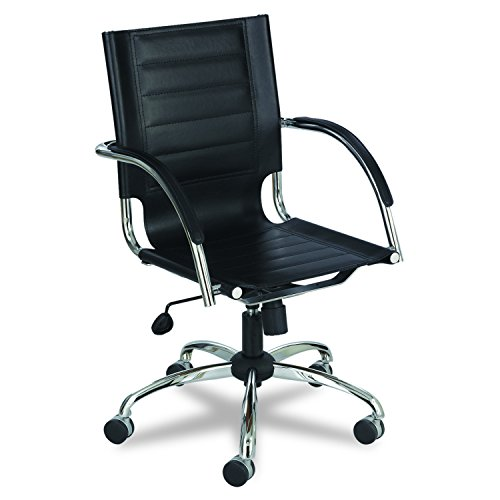 - Safco Products 3456BL Flaunt Managers Leather Chair, Black