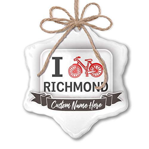 NEONBLOND Create Your Ornament I Love Cycling City Richmond Personalized