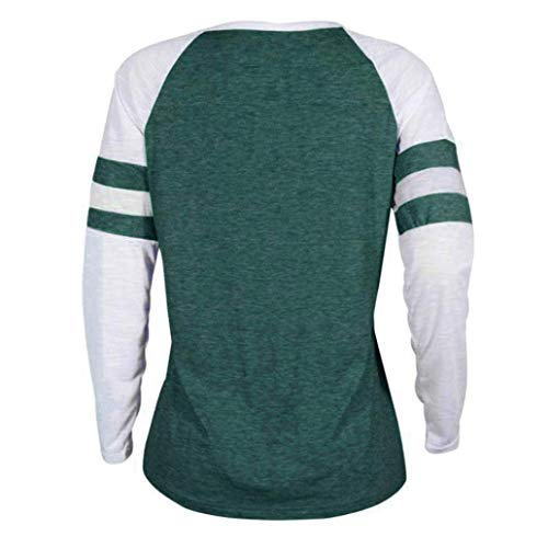 MORCHAN T Femmes Tops Blouse Longues Dames Vert Chat Shirt Manches 3 Impression RBSRqgr
