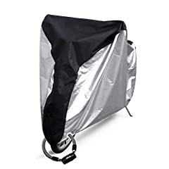 Protect your investment with Ohuhu's Water and Wind Resistant Bike Cover. Repels from rain or shine, keeping your bike looking as good as new. Made with strong, Oxford Fabric to protect against scratch and stains. Ergonomically designed with ...
