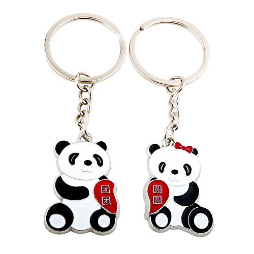 NN-BH couple panda keychain, panda two-piece suit, keychain for boyfriend, girlfriend, husband wife Valentine's Day gift]()