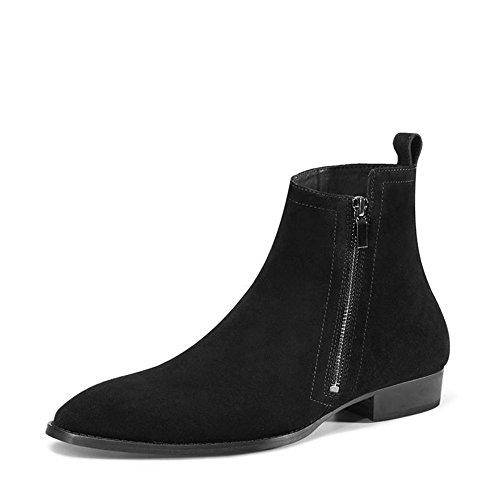 Chelsea Boots Uomo Camoscio Scarpe A Punta Stivali Casual Nero Stivaletti Scarpe Formali (us 7)