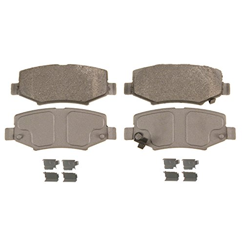 - Wagner ThermoQuiet MX1274 Semi-Metallic Disc Pad Set With Installation Hardware, Rear