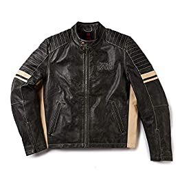 Royal Enfield Leather Olive Jacket for Men Size (M) 40 CM (RRGJKH001676)