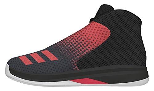 adidas Jungen Court Fury 2016 K Basketball Turnschuhe, Black (Negbas / Rojray / Ftwbla), 28 EU