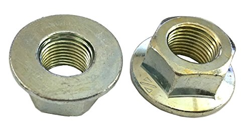 - 5 M16 - 1.5 Hexagon Flange Nut - Non-Serrated Class 10 Zinc DIN 6923 / ISO 4161