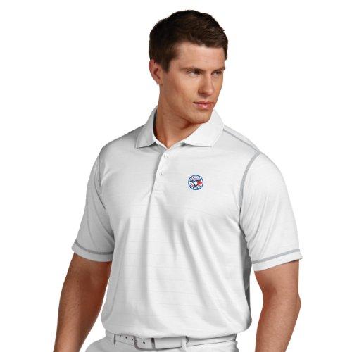MLB Toronto Blue Jays Men's Icon Desert Dry Xtra Lite Polo, White/Silver, Medium