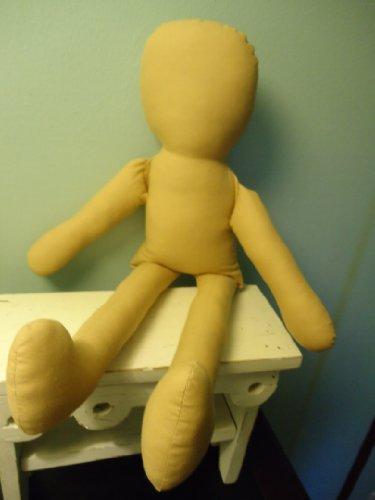 "1 ANTIQUE TAN 22"" Primitive Doll Body-form-blank-cotton-craft Supply By Katiesdolls from katiesdolls"