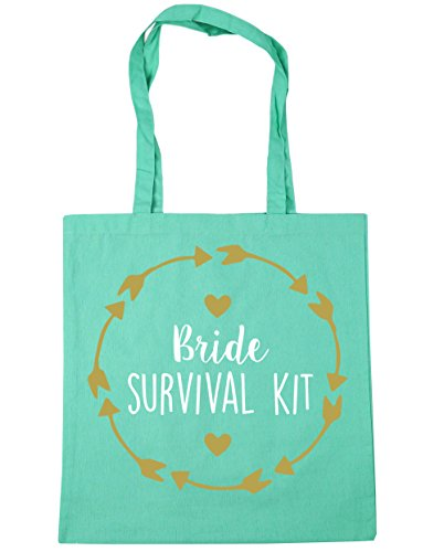 10 Shopping Beach Bag x38cm Bride HippoWarehouse Gym litres Mint 42cm survival Tote awHBqqW7A