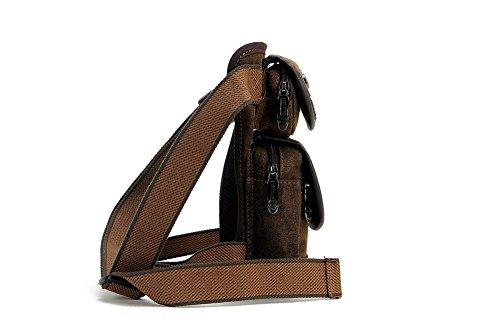 Modelshow Herren Leinwand Multifunktions Beinbeutel Hüfttasche Gürteltasche Taillengürtel mit Tasche