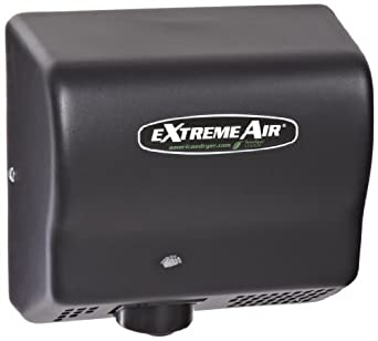 American Dryer ExtremeAir EXT7-BG Steel Cover High-Speed Automatic Hand Dryer, 12-15 Second Dries, 100-240V, 540W Maximum Power, 50/60Hz, Black Graphite Finish