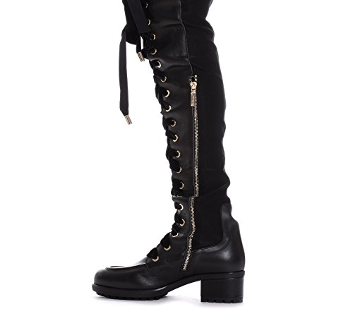 Women's Leather PMNG002510001 MANGANO Black Boots dtwq5qC