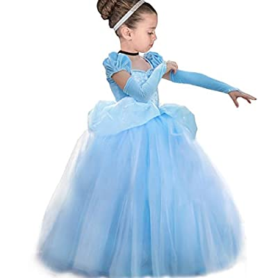YESNID Girls Cinderella Princess Dress Costume Toddler Ball Gown Halloween Party Cosplay 2-13T: Clothing
