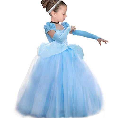 YESNID Girls Cinderella Princess Dress Costume Toddler