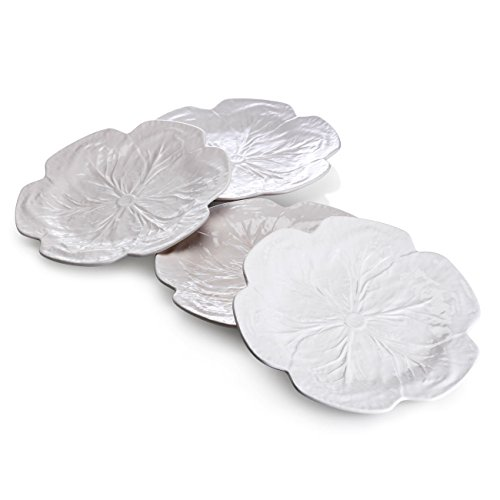 Bordallo Pinheiro Cabbage Beige Dinner Plates, Set of 4