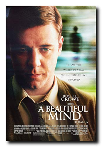 (Mile High Media A Beautiful Mind Movie Poster 24x36 Inch Wall Art Portrait Print - Russell Crowe)