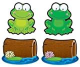 9 Pack CARSON DELLOSA CUT-OUT BUDDIES FROGS AND LOGS