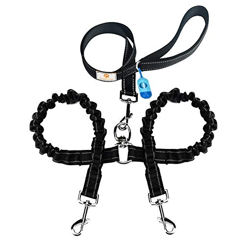 Snagle Paw Tangle-Free Bungee X2 Double Dog Leash Coupler