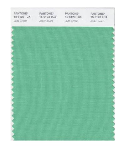 PANTONE Smart 15-6123X Color Swatch Card, Jade Cream