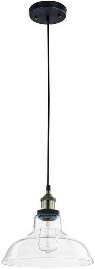 1-Luz pendiente de cristal colgante de luz Edison Industrial estilo antiguo techo de la lámpara de luz LED de luz retro creativo de lujo Sala de estar de la lámpara 11 En