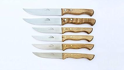 Pack de 6 Cuchillos Artesanales (4 Medianos y 2 Grandes) en ...