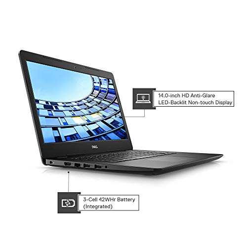 Dell Vostro 3480 14-inch Thin and Light Laptop Black + WD 2TB My Passport Portable External Hard Drive, Blue